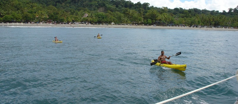 Kayaking in front of the hotel